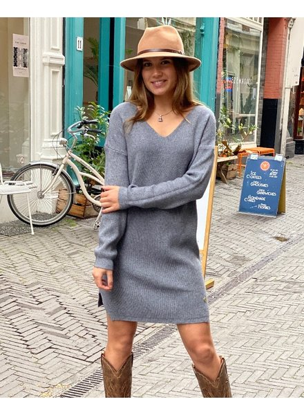 Comfy Sweater Dress - Dark Grey