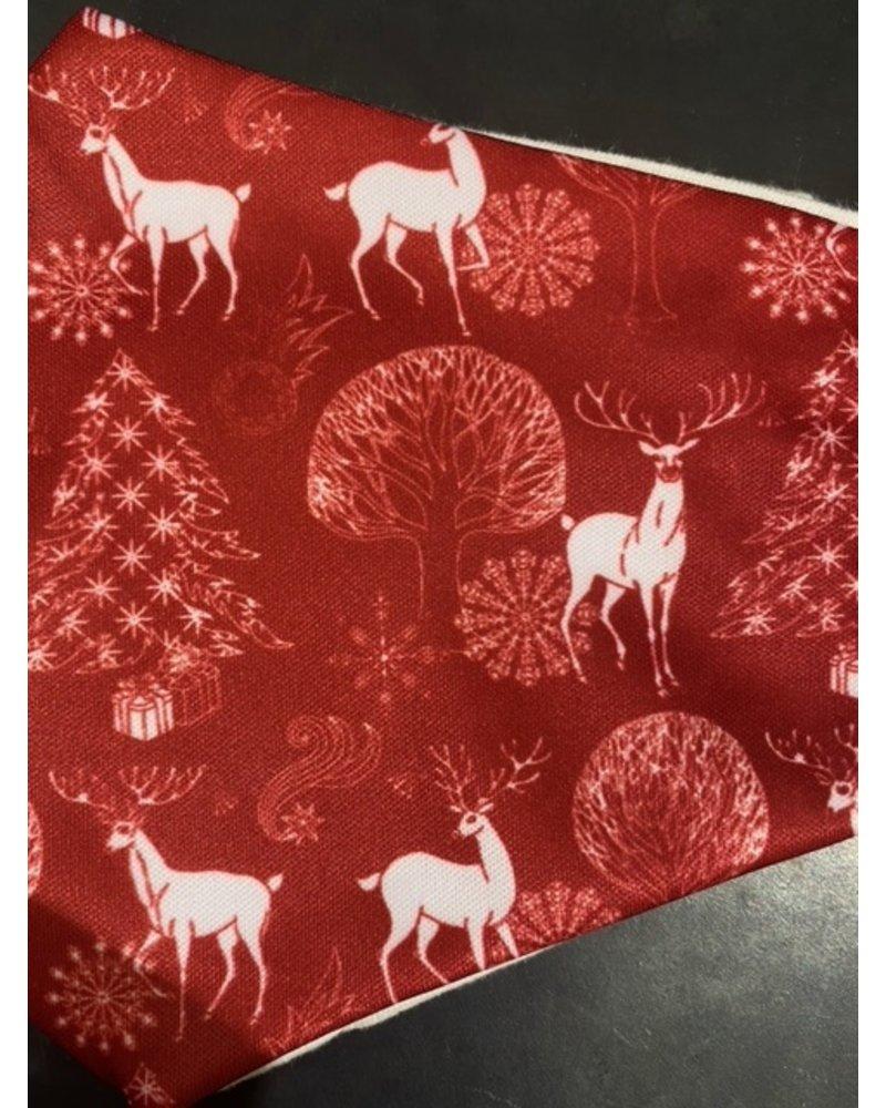 Mondkapje - Christmas Red