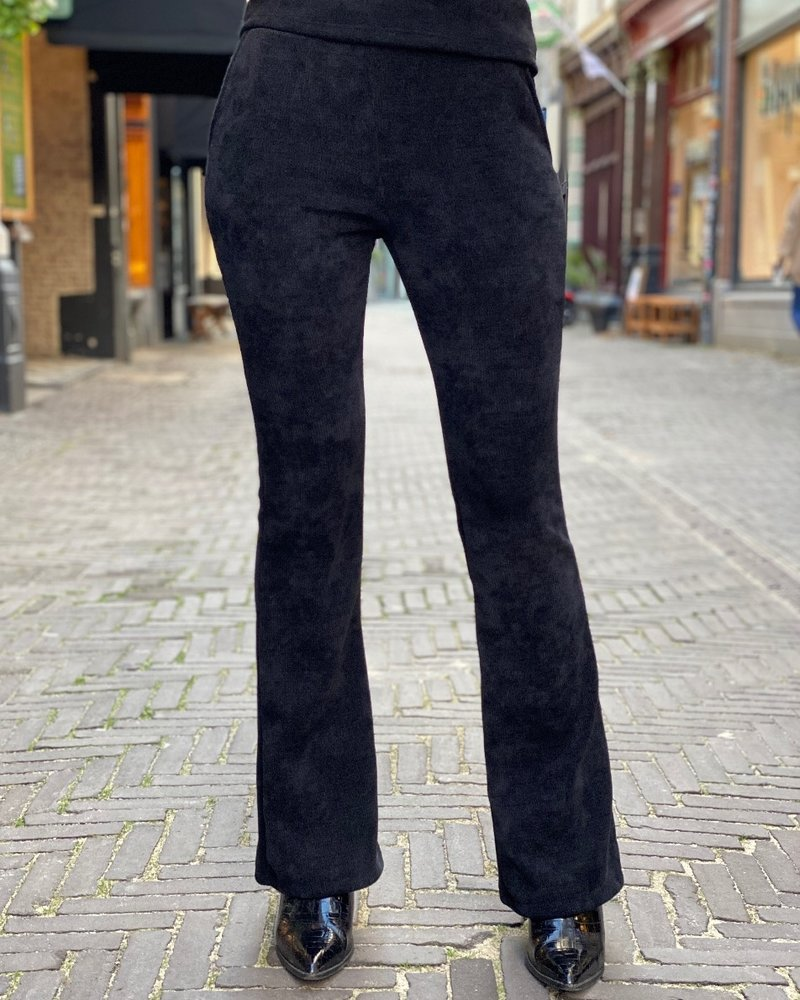 Indy  Ribbed Flare - Black