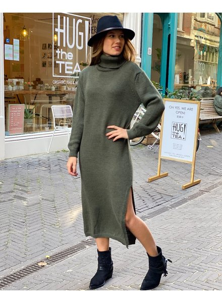 Maxi Col Dress - Army Green