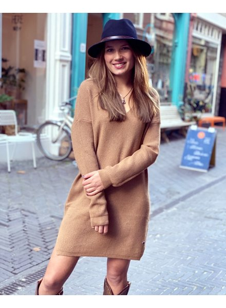 Comfy Sweater Dress - Camel
