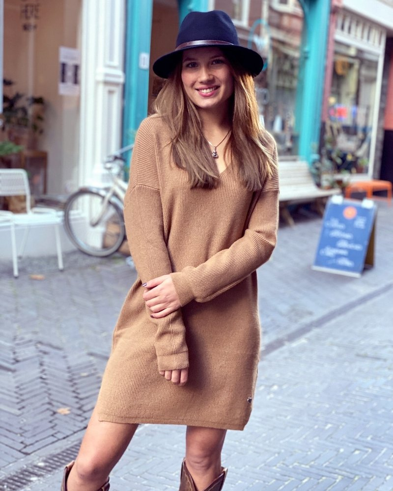 Comfy Sweater Dress - Camel