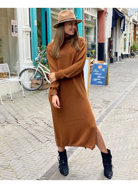 Maxi Col Dress - Camel
