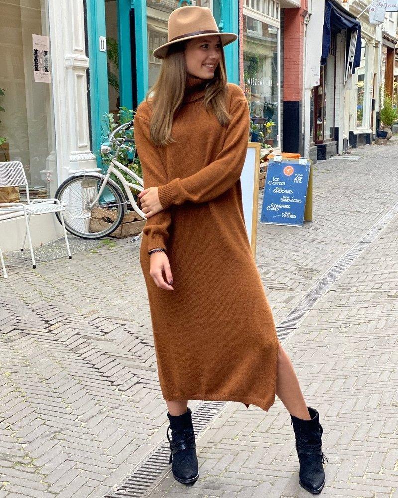 Maxi Col Dress - Camel