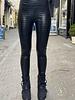 Leather Croco Legging - Black