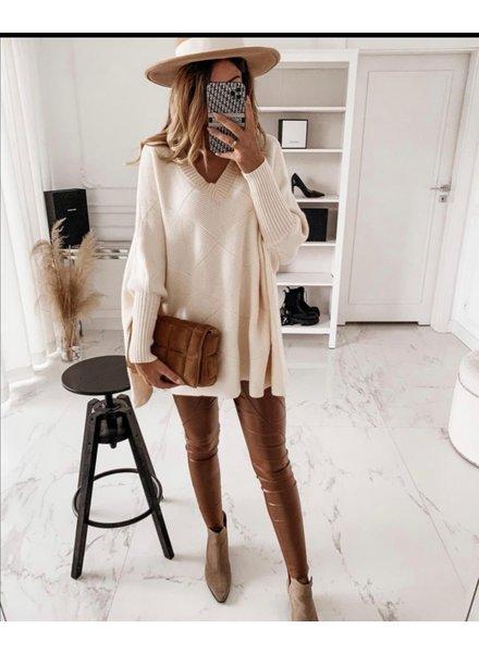 Oversized  Milou Sweater - Beige
