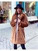 Fabulous Fake Fur Coat - Light Camel