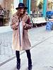 Fabulous Fake Fur Coat - Taupe