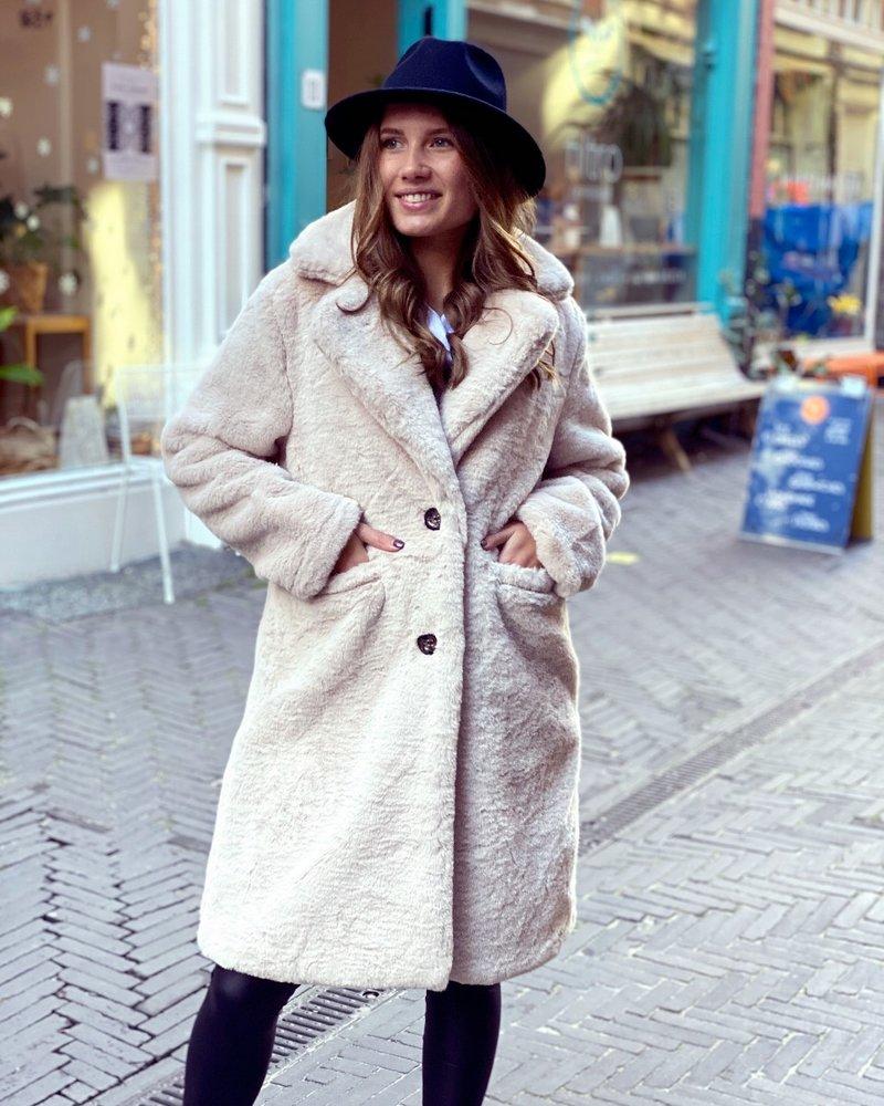 Fabulous Fake Fur Coat - Beige