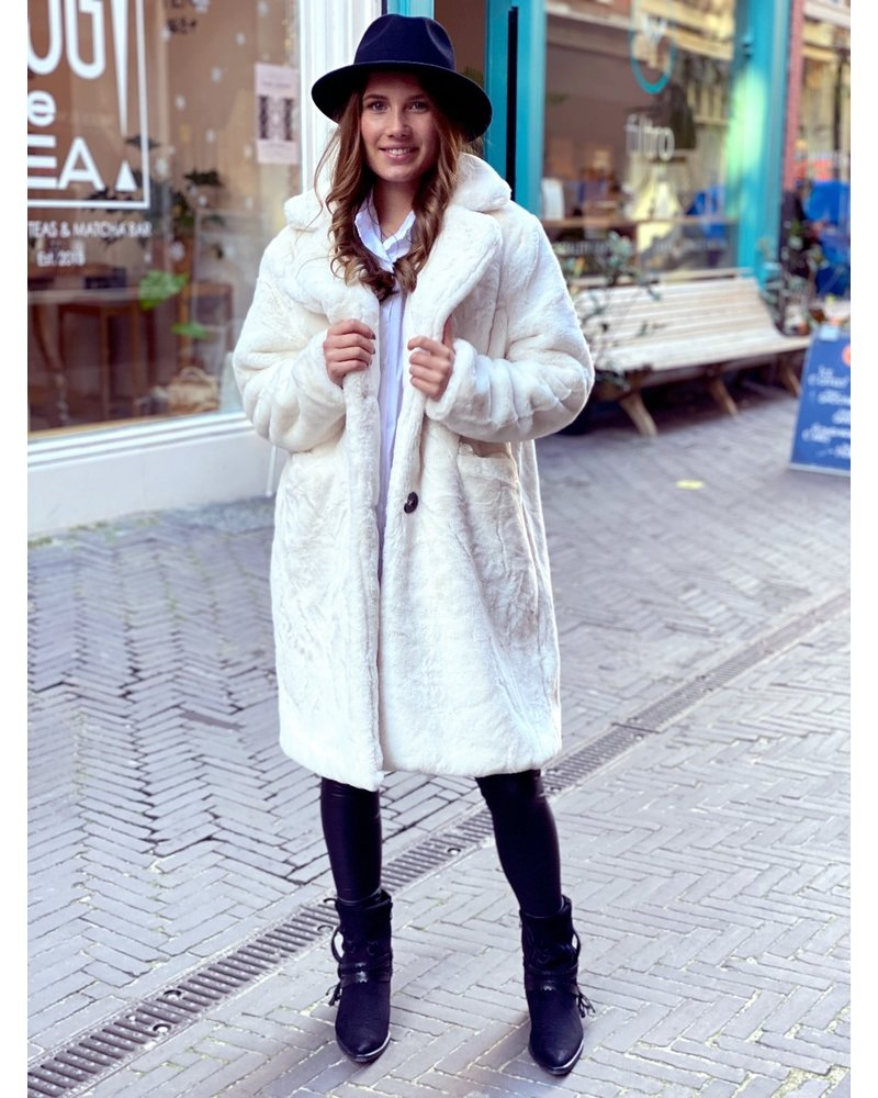 Fabulous Fake Fur Coat - White