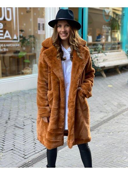 Fabulous Fake Fur Coat - Camel