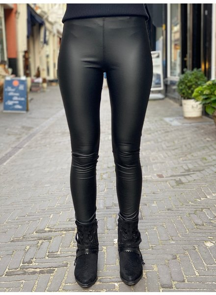 Matt Leather Legging - Black