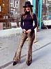 Velvet Leopard Flare Pants