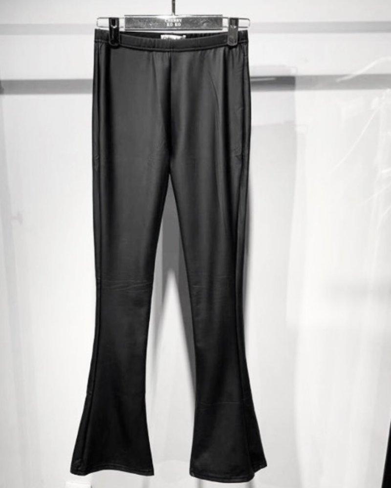 Leather Flare - Black