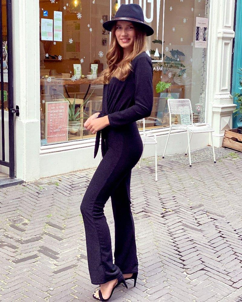 Glitter Jumpsuit - Black
