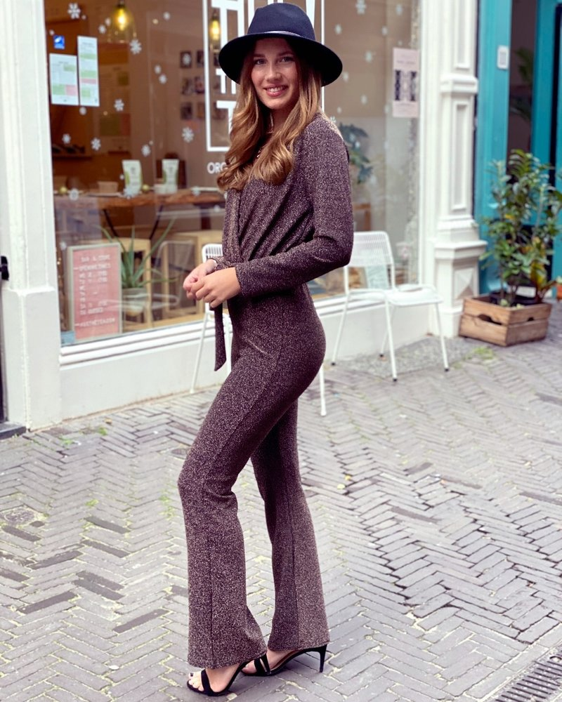 Glitter Jumpsuit - Gold
