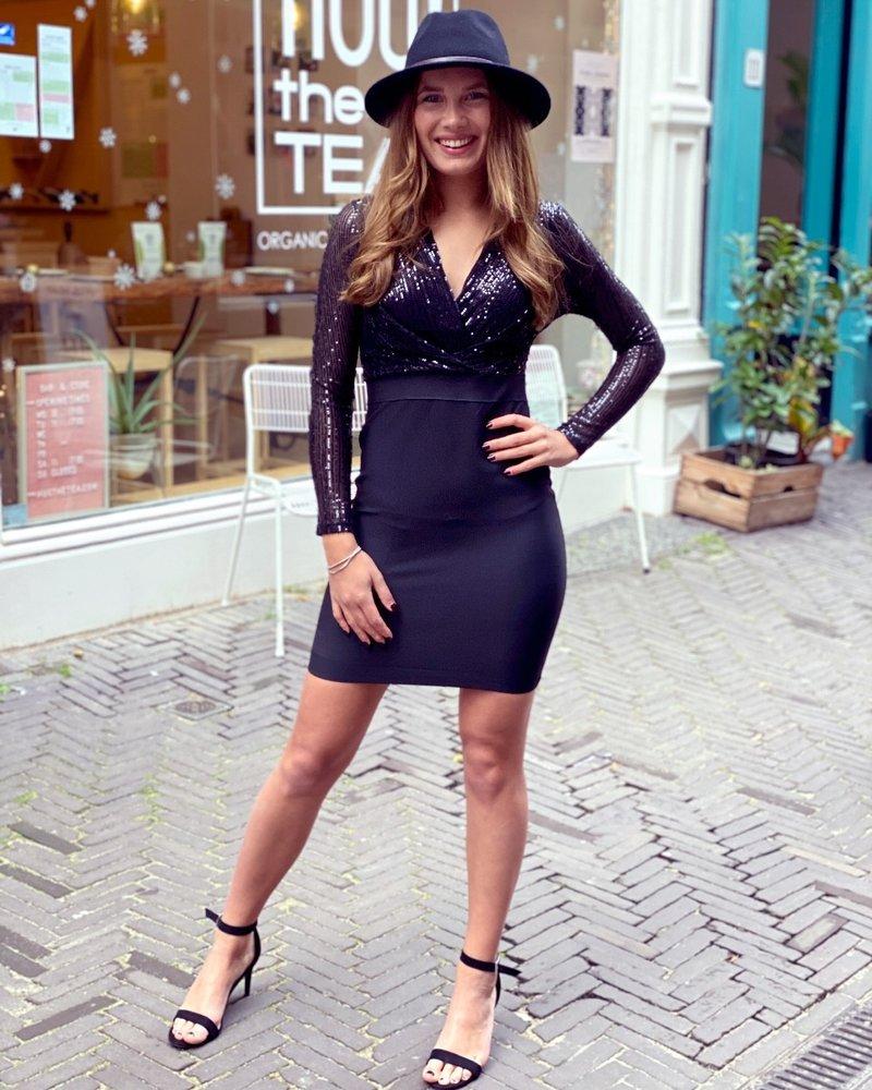 Shiny Party Dress - Black