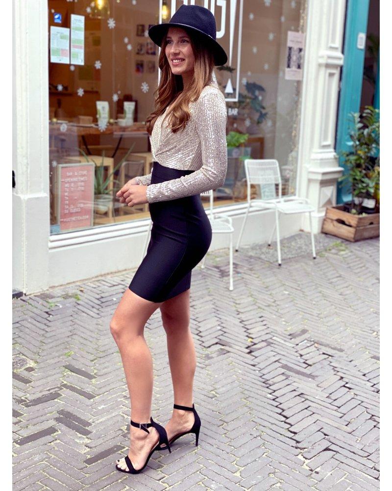 Shiny Party Dress - Champagne