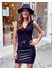 Leather Lace V Dress