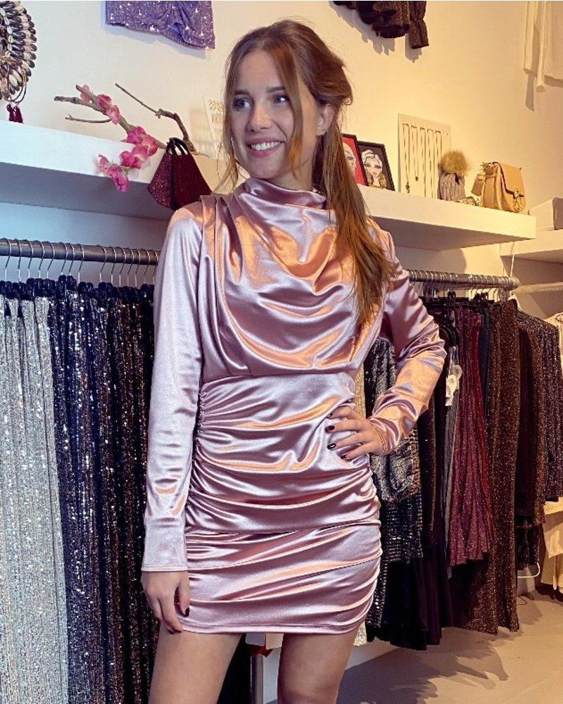Satin Dress - Champagne Pink