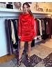 Satin Dress - Red