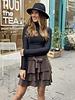 Ruffle Sparkle Skirt - Brons