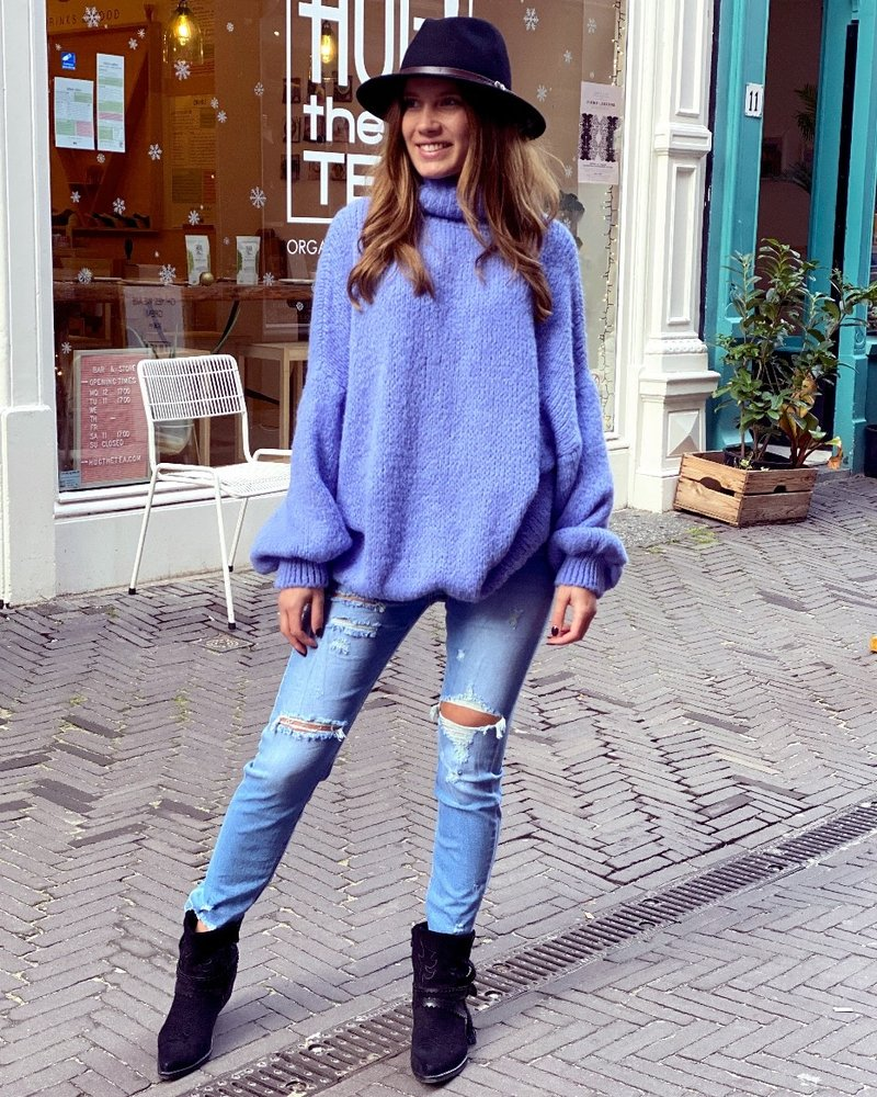 Cozy Col Sweater - Lilac