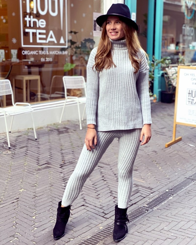 Cozy Ribbed Set - Grey