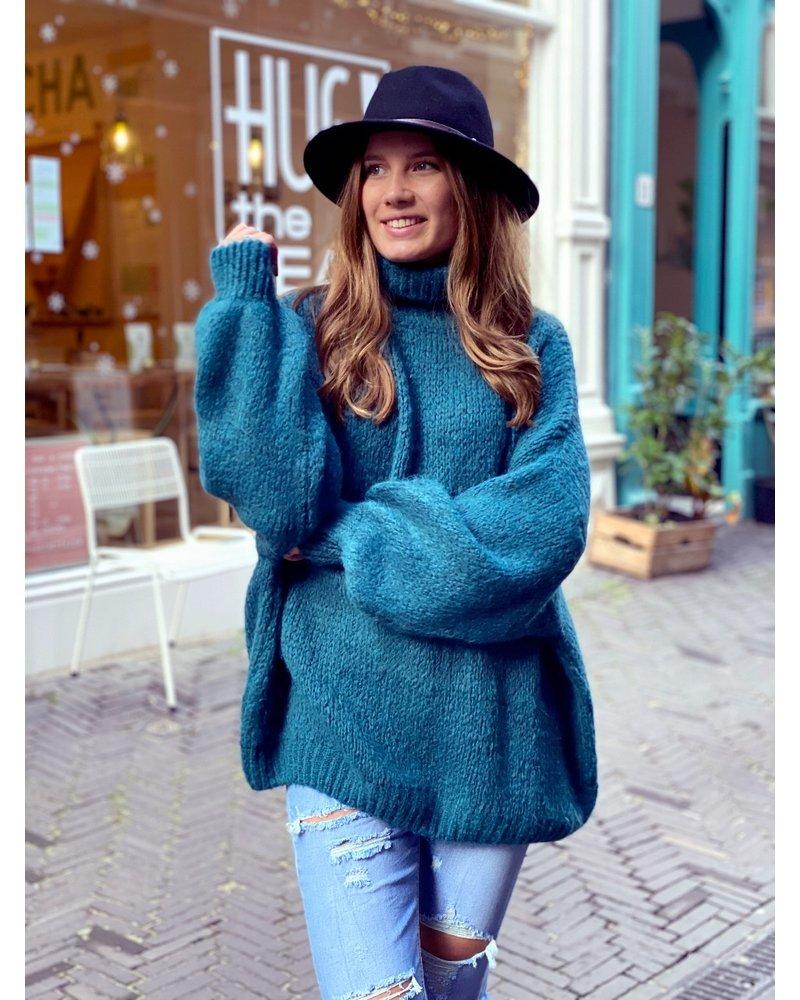 Cozy Col Sweater - Petrol
