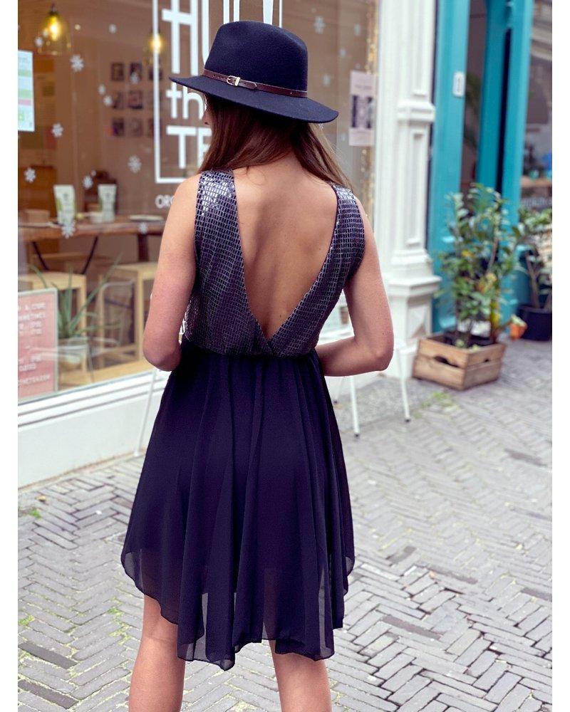 Belle Party Dress - SILVER