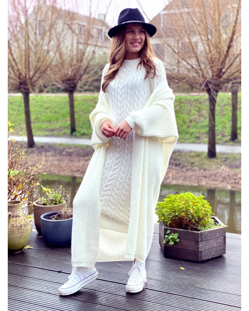 Classy Winter Set with sleeves - Off White
