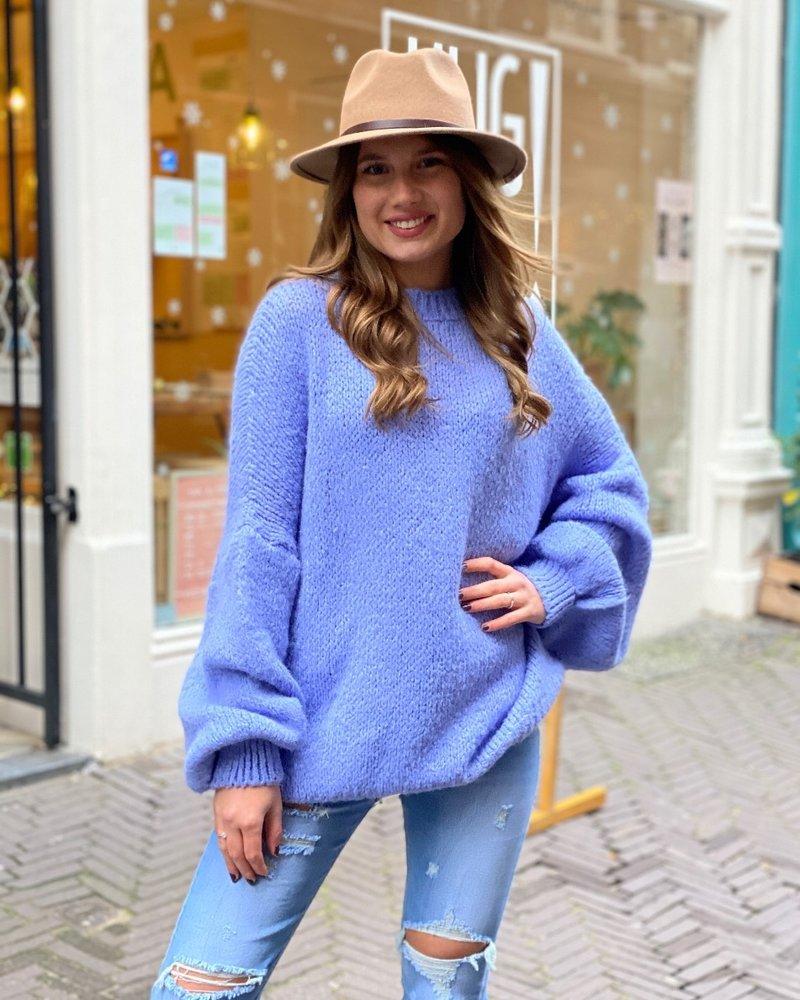 Cozy Round Neck Sweater - Lilac