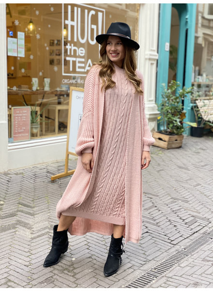 Classy Winter Set with sleeves - Light Pink
