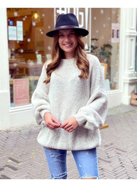 Cozy Round Neck Sweater - Beige