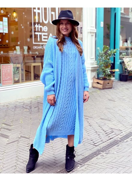 Classy Winter Set with sleeves - Light Blue