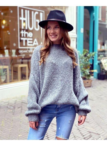 Cozy Round Neck Sweater - Dark Grey