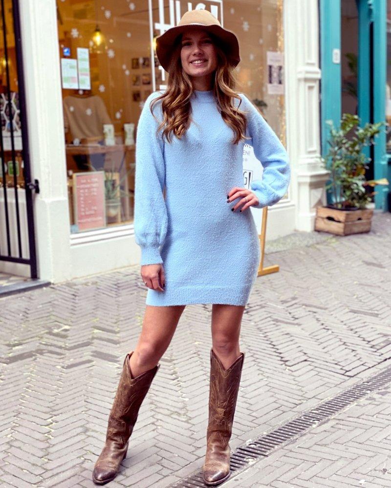 Kylie Sweater Dress - Lightblue