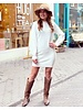 Kylie Sweater Dress - White
