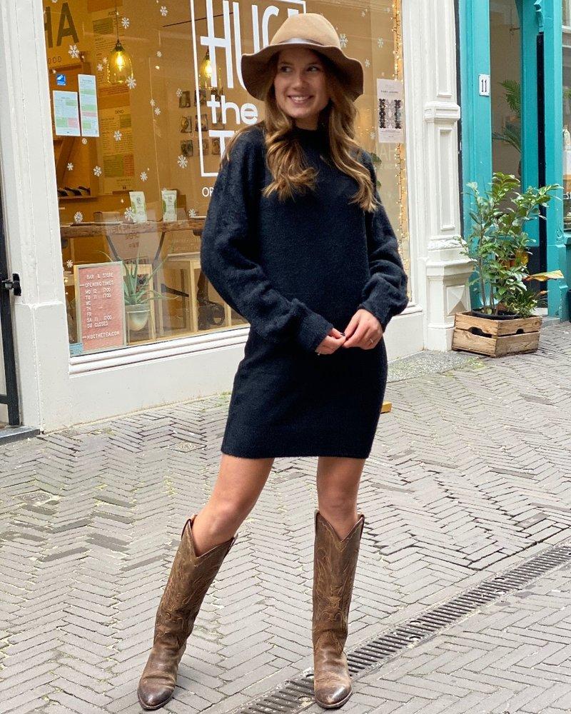 Kylie Sweater Dress - Black