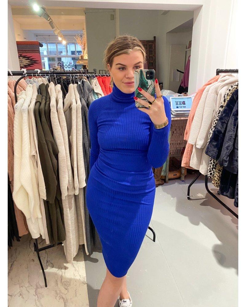 Pretty Col Dress - Kobalt