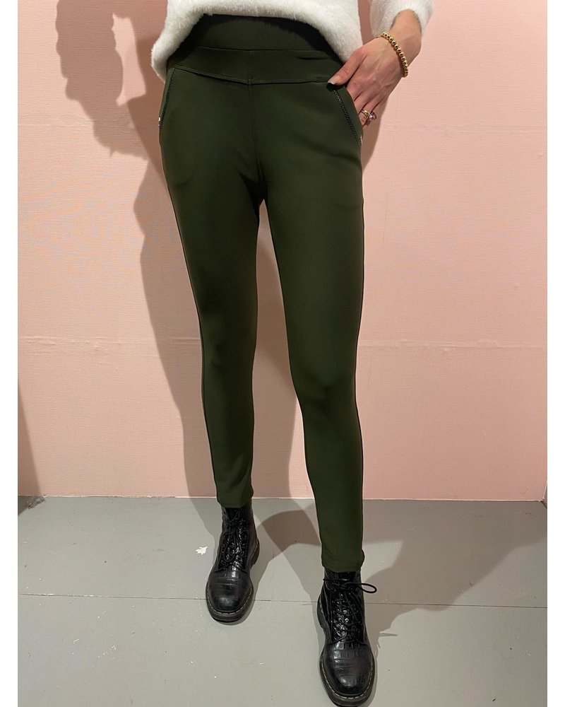 Nikki Pants - Army Green