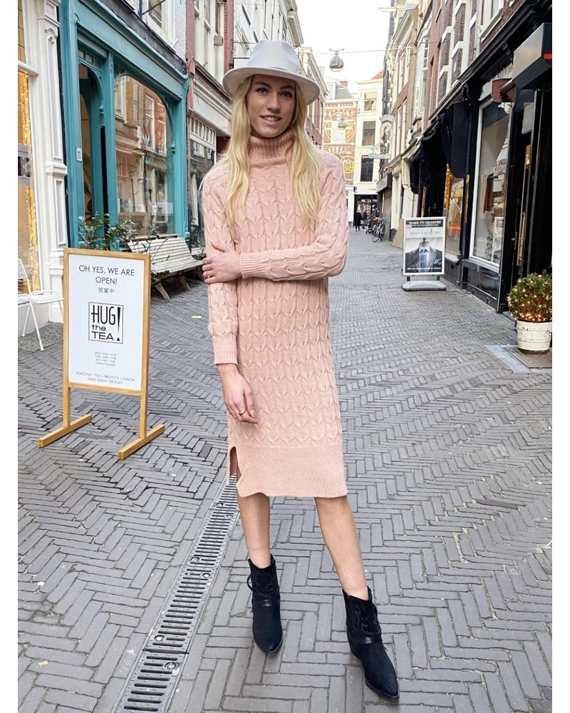 Winter Maxi Col Dress - Light Pink