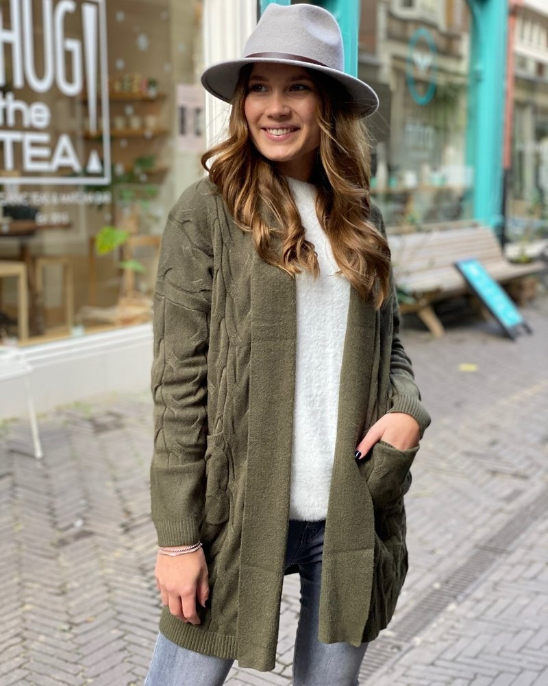 Nancy Cable Vest - Army Green
