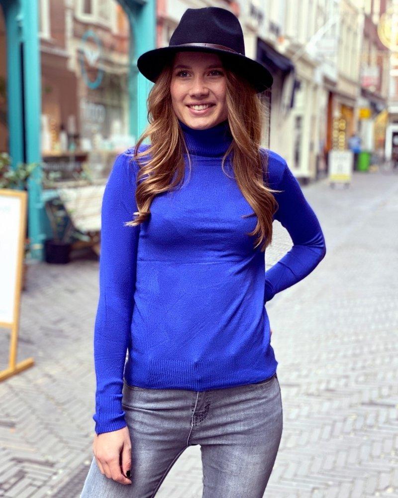 Fabulous Col Sweater - Kobalt