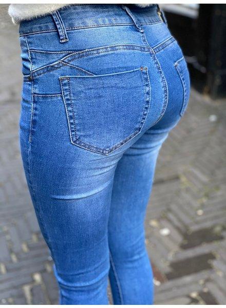 Stella Push Up Jeans - Blue
