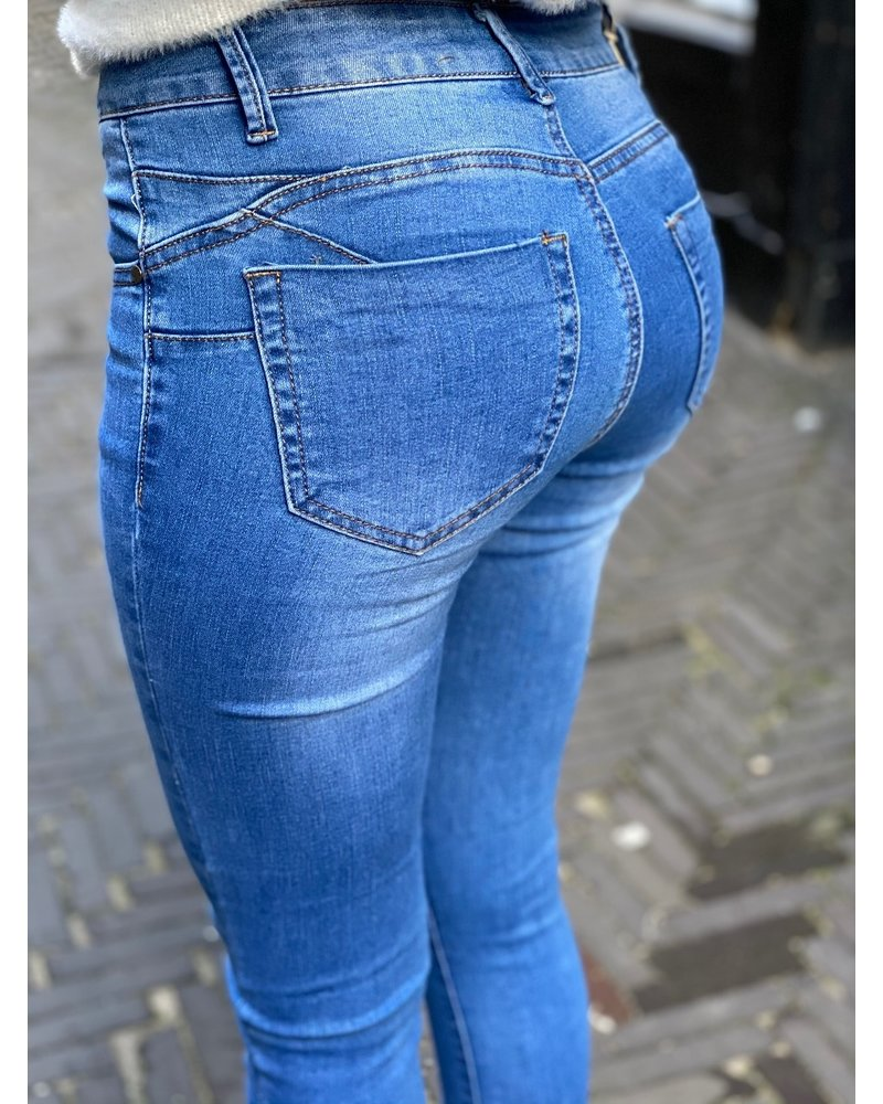 Stella Push Up Jeans - Blue