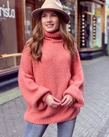 Cozy Col Sweater - Peach