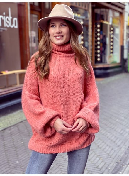 Cozy Col Sweater - Peach