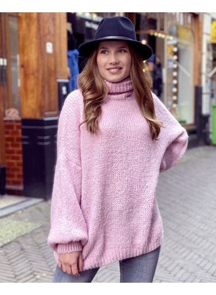 Cozy Col Sweater - Pink