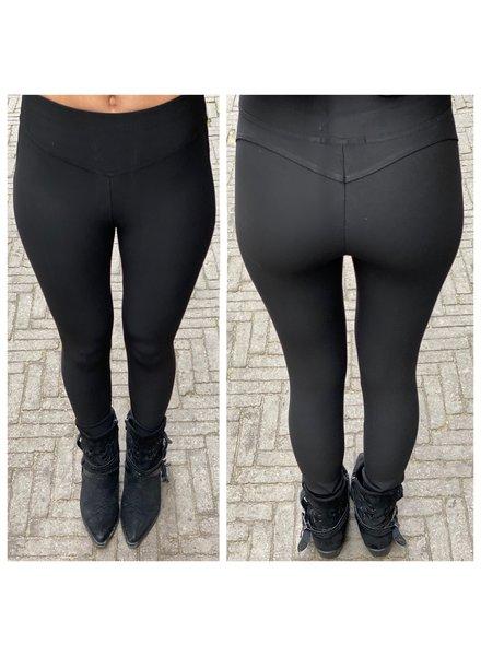 Violet V Shape Pants - Black